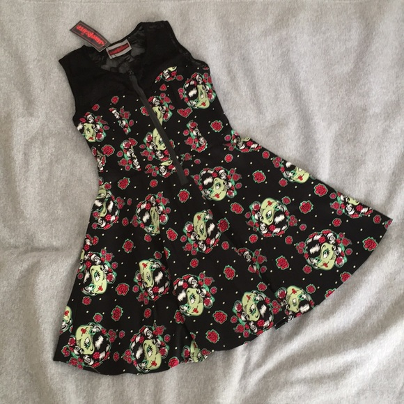 Jawbreaker Dresses & Skirts - OFFERS WELCOME ⭐️ NWT Zombie Skater Dress w/ Lace